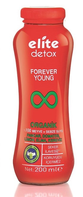 ELİTE ORGANİK DETOX SUYU FOREVER YOUNG 200 ML